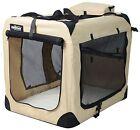 EliteField Beige 3-Door Folding Soft Dog Crate Cage Kennel 5 Sizes