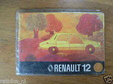 RENAULT 12 19??   HANDLEIDING OWNERS MANUAL,INSTRUCTION BOOK