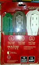 Package of 3 electrical extension cords 6' 9' & 12' new