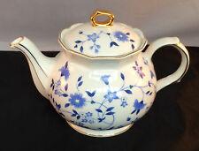 Vintage Sadler(England) Floral Tea Pot-Gold Trim-Delicate Floral Design