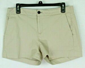 Banana Republic Khaki Shorts Women's Size 8 Hampton Fit Cotton Stretch