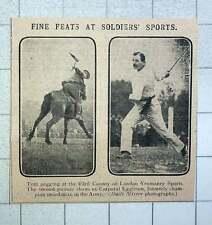 1915 London Yeomanry Sports Tent Pegging And Cpl Eggleton Champion Swordsman