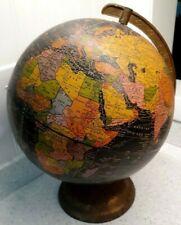 Vintage Black Scholastic World Globe 10 ½� George F. Cram C666 Made in Usa