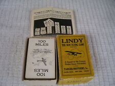 Vtg 1927 Parker Brothers LINDY the New Flying Card Game w/ instructions-COMPLETE
