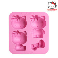 Hello Kitty Little Chef Baking And Ice Cube Tray Silicone Molds Cute Design