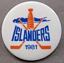 "1981 New York ISLANDERS Hockey 2.25"" pinback button"