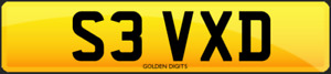 S3 VXD PRIVATE CHERISHED PERSONALISED REG REGISTRATION NUMBER PLATE AUDI S3 RS3