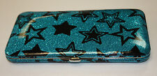 Hot Topic Black and Blue Soft Side Hinged Wallet