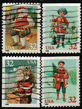 Scott #3008-11 Used Set of 4, Santa and Children