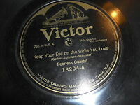 PEERLESS QUARTET VICTOR 78 RPM RECORD 18204 BACK TO CALIFORNIA