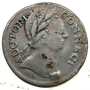1785 6.1-A.1 R-5 Connecticut Colonial Copper Coin