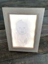 Personalised Lithophane Print Photo Frame - LED Backlit 6x4 | Baby, Wedding etc
