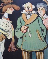 Original LE RIRE Cover Lithograph 1905 Illustrated By Metivet