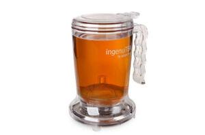 Ingenuitea 450ml Small Teapot for Brewing loose Tea BPA free
