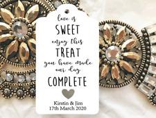 10 Kraft Tags Wedding Favour Personalised Bomboneire Love Is Sweet Complete
