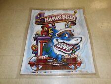 "Original Uncut HammerHead Marquee (Ice) Amusement & Arcade Warped Huge 41""X48"""
