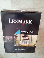 LEXMARK-C782X1CG ONE CYAN EXTRA HIGH YIELD RETURN PRINT CARTRIDGE (NEW IN BOX)