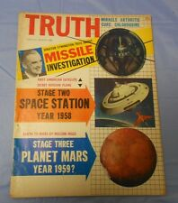 1958 TRUTH Magazine #1 Volkswagon MARS Tranqulizers SPACE Arthritis VG-