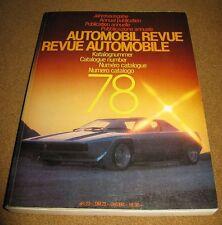 1978 automobile revue MERCEDES LOTUS ROLLS ROYCE F1
