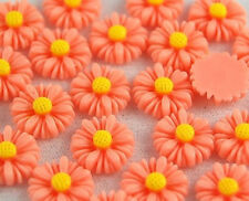 25pcs Pink Flowers Resin Flatbacks Scrapbooking Cabochons Bow Jewelry Making