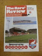 12/01/1985 Scarborough v Chorley [FA Trophy] (Crease/Fold). This item is in very