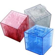 1PC MONEY BOX MAZE COIN BOX PUZZLE SAVING BANK 3D CUBE PRIZE HOLDER PIGGY BANK