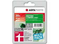 CARTOUCHE ENCRE AGFA PHOTO pour brother LC-985 LOT DCP J515W J315W MFC J220 J410