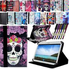 "For 7"" 8"" 10"" Samsung Galaxy Tablet FOLIO LEATHER STAND Cover CASE + Stylus"