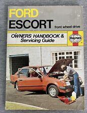 Haynes Owners Handbook Ford Escort FWD Mk.3 1980-82 Servicing Guide