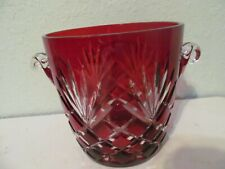 Ruby Red Faberge Ice Bucket With Tongs