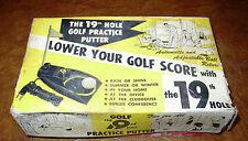 "Golf Putter Machine 1950s 1960s Still WORKS! ""The Ninteenth Hole"" Office Home"