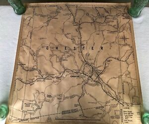 Vintage Chester Vermont Map