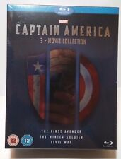 Captain America 3 Movie Collection(Bluray Boxset)Region Free-NEW-Free Shipping