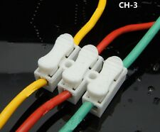 10 Pcs 10A 3 Way LED Ceiling Quick Fix Spring Clamp Terminal Block Connector