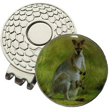 1 x New Magnetic Hat Clip + Kangaroo Golf Ball Marker - For Golf Hat or Visor