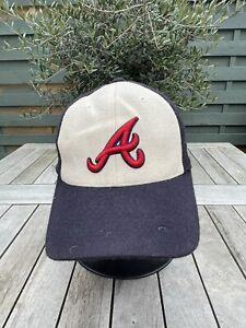 Atlanta Braves The League MLB Adjustable Baseball Cap - White And Navy