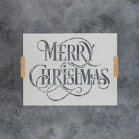 Merry Christmas Stencil - Reusable Stencils of Merry Christmas Text Made in USA