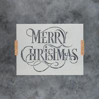 Merry Christmas Stencil - Durable & Reusable Mylar Stencils