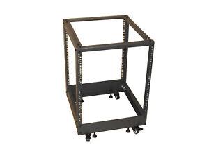 "12U 19"" Rackmount Server Frame Adjustable Rack 56cm to 97cm Cabinet Alternative"