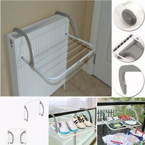 5 Bar Radiator Airer Portable Adjustable Folding Indoor Clothes Laundry Dryer
