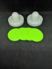 Air Hockey Mallets / pushers (Dynamo) with 4 Large Pucks!