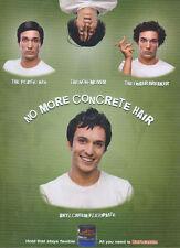 "Brylcreem ""No More Concrete Hair"" Flexipaste 2006 Magazine Advert #688"
