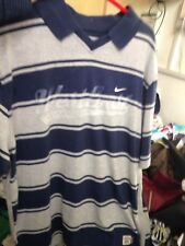 Nike T Shirt Leisure Medium 38/40 Or 40/42 42/44At £10Grey/Navy Stripe Athlec