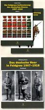 Die campo Uniformes el alemán Ejército 1907-1918 Band 1-3 (Años Kraus)
