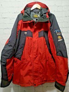 Men's Mountain Hard Wear Ski Jacket Red Orange Waterproof 2XL XX-Large Conduit
