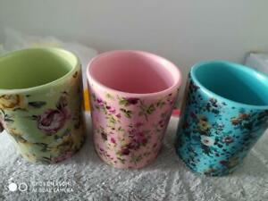 YANKEE CANDLE SET OF 3 'FLORAL' DESIGN VOTIVE HOLDERS