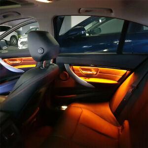 For BMW f30/f31 4PCS LED Ambient Light Bar Interior Door Panel Lamp Carbon Fiber