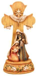 Xmas Nativity Cross Joy to the World Nativity Scene Xmas Ornament Christian