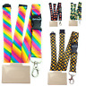 Neck Strap Breakaway Lanyard Spirius With clip + Horizontal id badge holder
