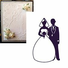 Wedding DARICE embossing folders 1216-58 BRIDE AND GROOM - Cuttlebug Compatible